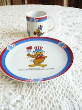 1984 Olympics Plate and Cup Sammy Eagle LAOOC Licensed