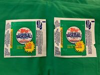 1980s 90s Topps Baseball Wax Pack Wrappers Lot Of 10 You Get EXACT Shown