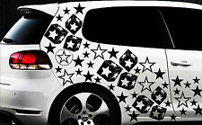 93 Sterne Star Auto Aufkleber Set Sticker Tuning Fee Stylin WandtattooTribel xxx