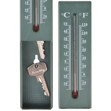 Esschert Design Thermometer mit Schlüsselversteck, Versteck für Schlüssel TH78
