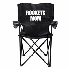 Rockets Mom Black Folding Camping Chair with Carry Bag