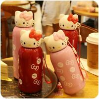 Childrens Hot Water Bottle Cartoon Kitty Vacuum Cup Stainless Steel Drink Ware