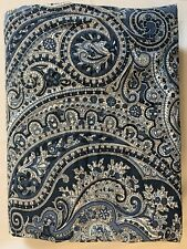 (1) King Pillow Sham Ralph Lauren Townsend Pattern Blue Paisley L1