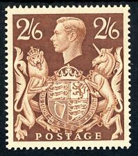 GB 1939 KGVI 2/6d Brown Superb MNH SG 476 Cat £100