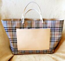 ❤️❤️ BURBERRY CANVAS AND LEATHER FRONT POCKET TOTE BAG SIGNATURE NOVA CHECK❤️❤️