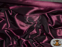 "Taffeta Solid Fabric EGGPLANT / 58"" Wide / Sold by the yard"