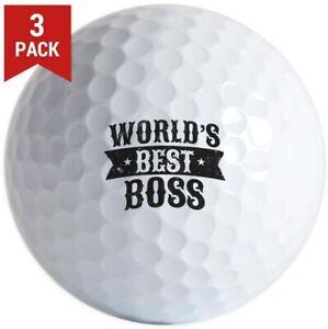 3 Pack Worlds Best Boss Golf Balls Your choice: Pro V1 Callaway Chrome Soft B330