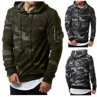 Men's Camouflage Hoodie Warm Sweater Jacket Sweatshirt Coat Hooded Outwear