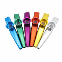 6 Colors Metal Kazoo Harmonica Mouth Flute Musical Instrumentr Kids Party Toy
