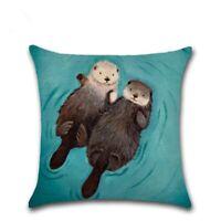 Otter Pillow Funda de cojín Sofá Silla Funda de almohada Textiles para el hogar