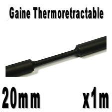 Gaine Thermo Rétractable 2:1 - Diam. 20 mm - Noir - 1m