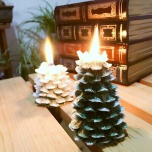 1pc Silicone Candle Mold 3D Christmas Tree Molds Aromatherapy Wax Candles Making