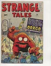 STRANGE TALES #90 FN-   MARVEL COMICS 1961 JACK KIRBY COVER ART STAN LEE WRITER