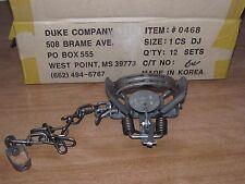 1  Duke #1 Coil Spring double jaw Traps Raccoon Mink Nutria Muskrat  NEW SALE