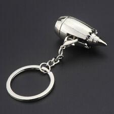 Men Car Home Key Chains Rings Boys Mini 3D Aircraft Engine Gadget Pendant Metal