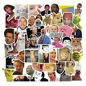 Funny Meme Stickers - Pack of 50 Mixed