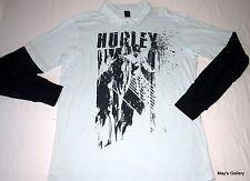 Hurley Polo Long Sleeve Tank Top  T shirt Tee Blouse  NWT L Navy