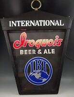 1960's IROQUOIS BREWING BEER BUFFALO NY LIGHTED SIGN DISPLAY ADVERTISING 24''