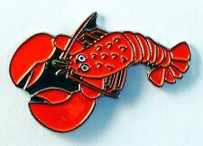 Metal Enamel Pin Badge Brooch Lobster Marine Sea Ocean Clawed Fish Marine Animal