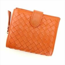 Bottega Veneta Wallet Purse Intrecciato Orange leather Woman Authentic Used H615