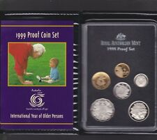 1999 Australia Proof Coin Set in Folder with outer Box & Certificate