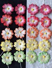 25 Handmade Mulberry Paper Flowers assortment Hawaii tropical Embellishments