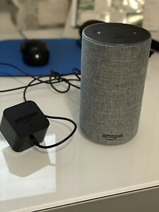 Amazon Echo (2nd Generation) - Heather Grey Fabric - Great Condition!