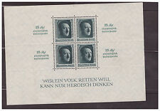 GER.SC.B102 MI.BLOCK 11 1937 9TH REICH PARTY RALLY NUREMBERG MNH  PG20