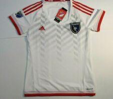 Women's MLS Adidas San Jose Earthquakes Short Sleeve Soccer Jersey Small  NEW
