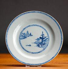 Lovely! 18 c. Chine De Commande VOC B-W Shanshui Plates Chinese Qing NO CRACKS