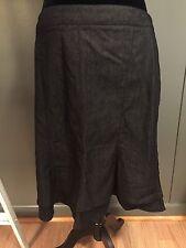 New Directions Skirt Black Denim Flare Size 12