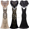 1920s Flapper Dress Gatsby Long Formal Wedding Evening Prom Dress Vintage Party