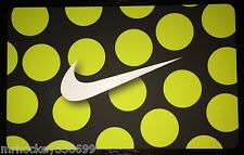 Nike CANADA YELLOW POLKA DOT SWOOSH Logo Collectors gift card English/French