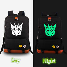 Transformers Decepticon Autobot Noctilucence Backpack Computer Package Schoolbag