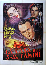 HOUSE OF THE SEVEN GABLES 1949 George Sanders, Vincent Price ITALIAN POSTER