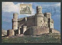 SPAIN MK 1966 CASTILLO BURG CASTLE CHATEAU MAXIMUMKARTE MAXIMUM CARD MC CM d4456