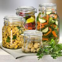 Bormioli Rocco Clamp Lid Kitchen Storage Jar Air Tight Seal Rice Pasta Food New