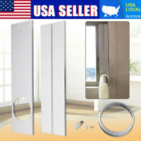 Pair Adjustable Window Slide Kit Plate w/Adapter For Portable Air Conditioner US