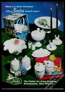 1968 Fenton white hobnail glass salt pepper shakers etc photo vintage print ad