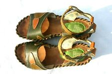 El Natura Lista Strappy Sandals Shoes Green And Brown  Size US  6.5 EU 37