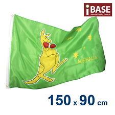 Australian Boxing Kangaroo Aussie AU Oz Flag Outdoor Garden 150x90cm 5x3ft
