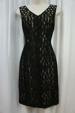 Anne Klein Dress Sz 4 Black Sleeveless Embellished Business Dinner Cocktail Dres