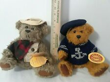 Lot Of 2 Brass Button Fully Jointed Bear Collectibles 1997 Tango & Tanner