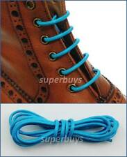 "Sky Blue 80cm Round Wax Waxed Cotton Shoe Work Boot Cord Dress Laces 32"" 3/4 Ey"