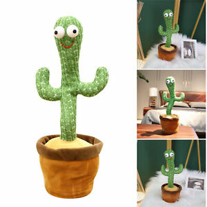 Dancing Cactus Plush Doll Toy with Smiling Face Singing 32cm Wiggling Ornament