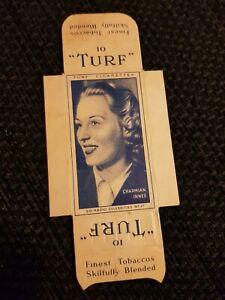 UNCUT 4 TABS - TURF (1950) Radio Celebrities - No. 27 Charmian Innes
