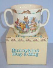 """Vtg. Royal Doulton Bunnykins Hug a Mug """"Baby Carriages"""" ~ Nos in Box"""