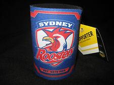 NRL SYDNEY ROOSTERS Stubby Holder History/Logo Neoprene -NEW!