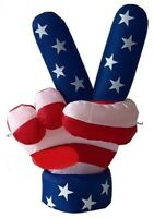 HALLOWEEN JULY 4TH PATRIOTIC MEMORIAL DAY PEACE HAND INFLATABLE AIRBLOWN 6 FT
