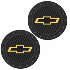 Plasticolor 000648R01 Chevy Bowtie Gold Cup Holder Coaster New 2 PACK